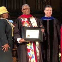United Honors Bishop Julius C. Trimble with Honorary Doctorate